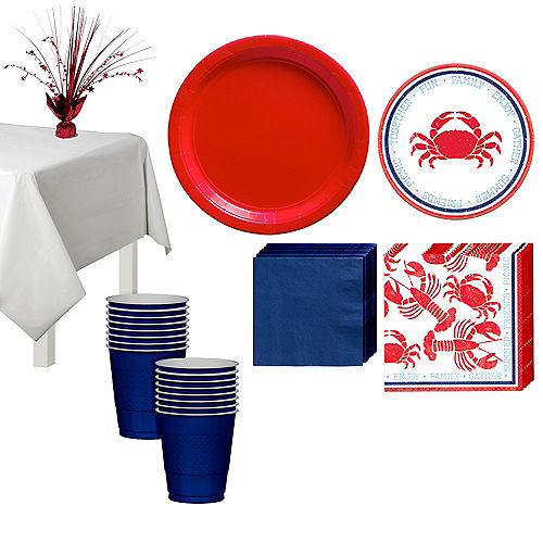 Seafood & Summer Tableware Kit for 16 Guests Image #1