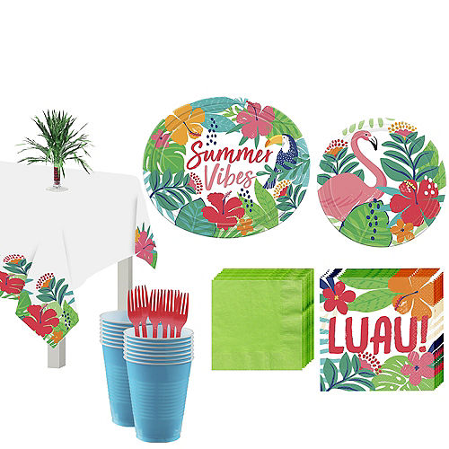 Tropical Jungle Tableware Kit for 18 Guests Image #1
