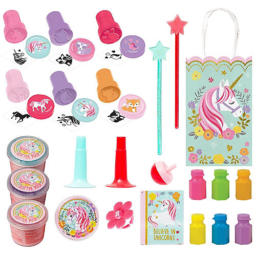 Magical Unicorn Basic Favor Kit for 8 Guests Image #1
