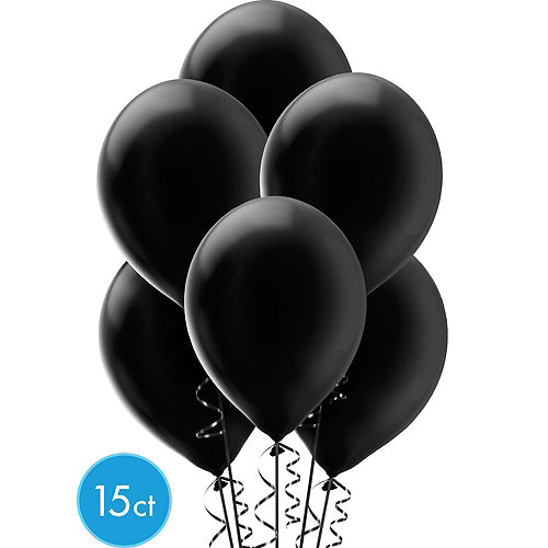 Air-Filled Black, Gold & Silver Balloon Arch Kit Image #2