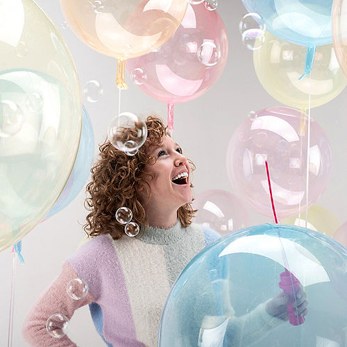 Clear Pink Balloon - Crystal Clearz Image #2