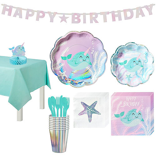Narwhal Tableware Party Kit for 8 Guests Image #1