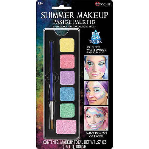 Shimmer Makeup Pastel Palette 3pc Image #1