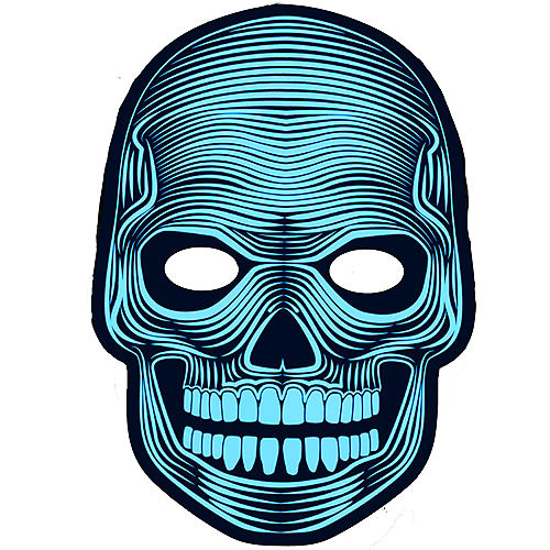 Light-Up Adult Skeleton Mask Image #1
