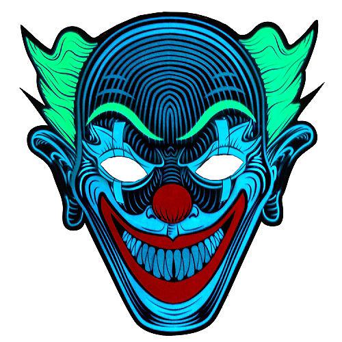Light-Up Adult Clown Mask Image #1