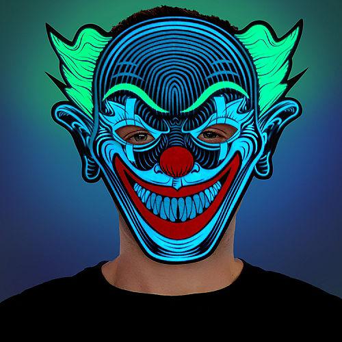 Light-Up Adult Clown Mask Image #2