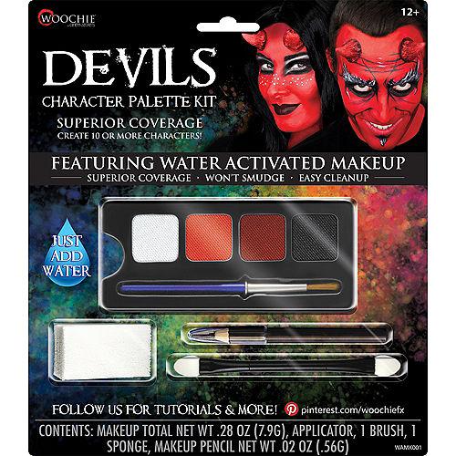 Complete Devils Character Makeup Palette Kit 5pc Image #1
