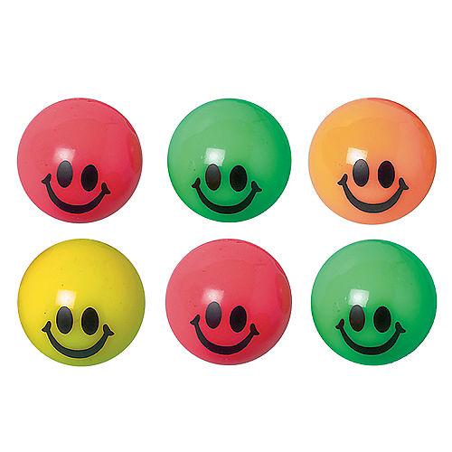 Smile Bounce Balls 6ct Image #1