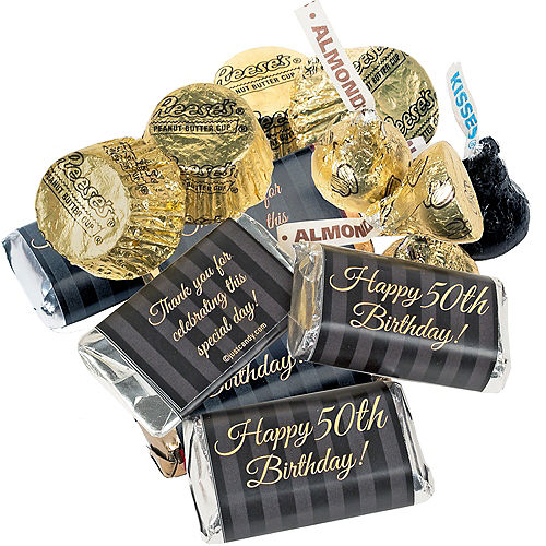 Milestone 50th Birthday Hershey's Chocolate Mix 180pc Image #2