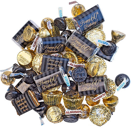 Milestone 60th Birthday Hershey's Chocolate Mix 180pc Image #1