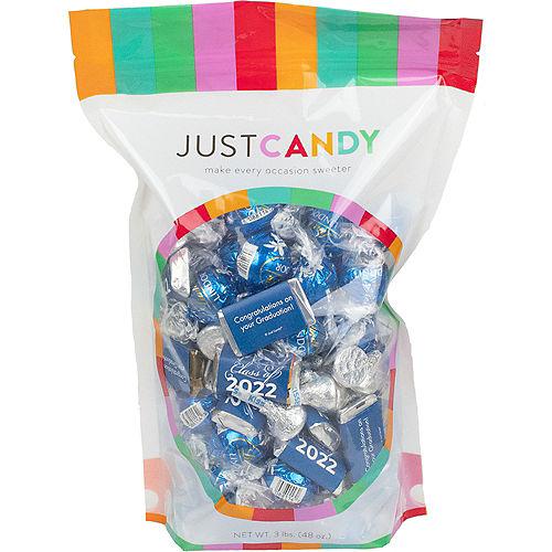 Blue Class of 2021 Graduation Hershey's Miniatures, Kisses & JC Peanut Butter Cups, 180pc Image #1