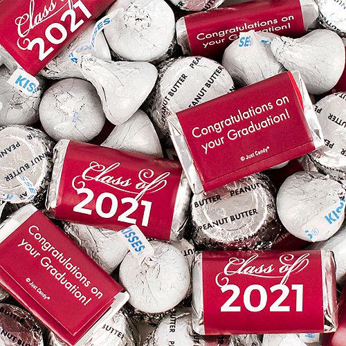 Berry Class of 2021 Graduation Hershey's Miniatures, Kisses & JC Peanut Butter Cups, 180pc Image #1
