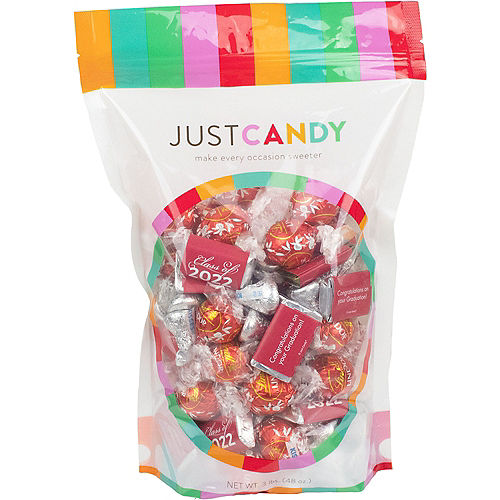 Red Class of 2021 Graduation Hershey's Miniatures, Kisses & JC Peanut Butter Cups, 180pc Image #1
