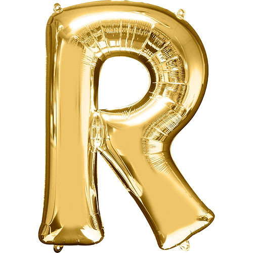 34in Gold Pride Letter Balloon Kit Image #6