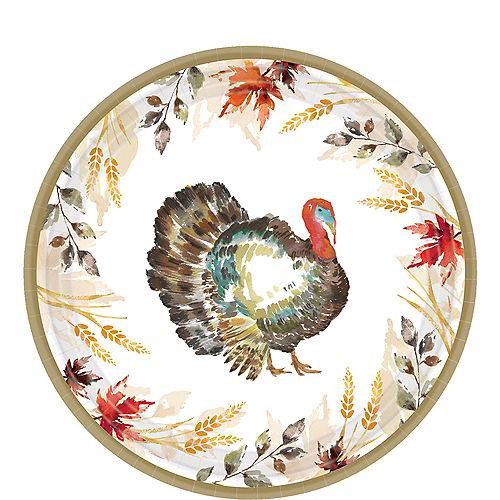 Classic Thanksgiving Lunch Plate 60ct Image #1