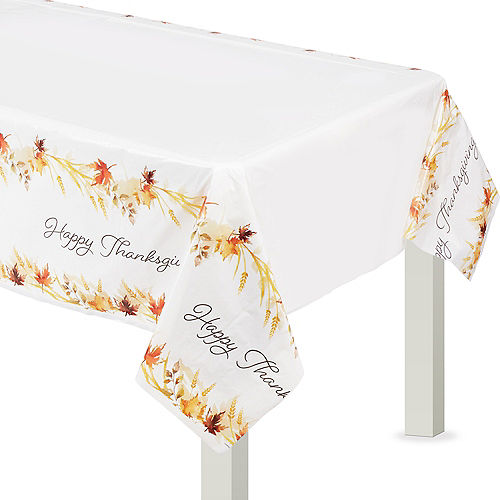 Classic Thanksgiving Plastic Table Cover Image #1