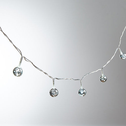 Mini Silver Globe LED String Lights Image #1