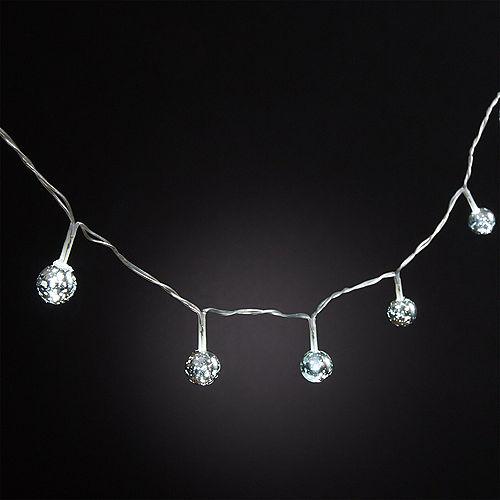 Mini Silver Globe LED String Lights Image #2