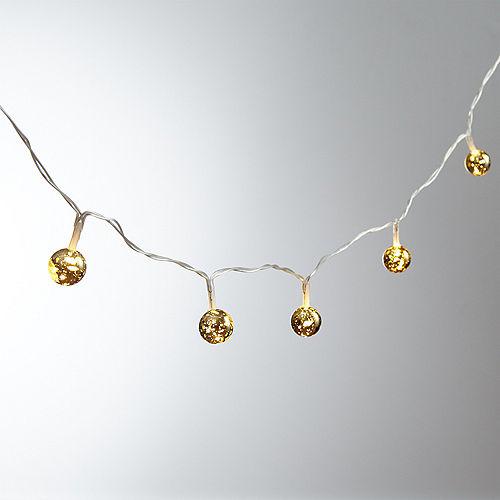 Mini Gold Globe LED String Lights Image #1