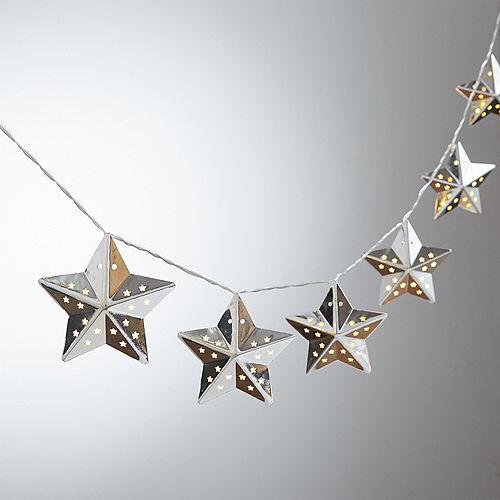 Silver Star LED String Lights Image #1