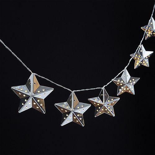 Silver Star LED String Lights Image #2