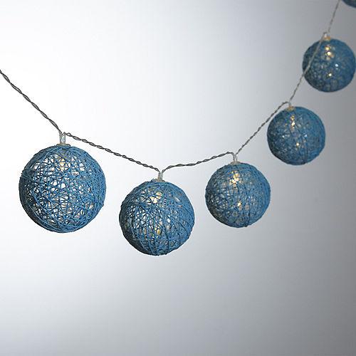 Blue Woven Ball LED String Lights Image #1