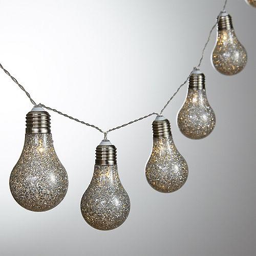Glitter Edison Lightbulb LED String Lights Image #1