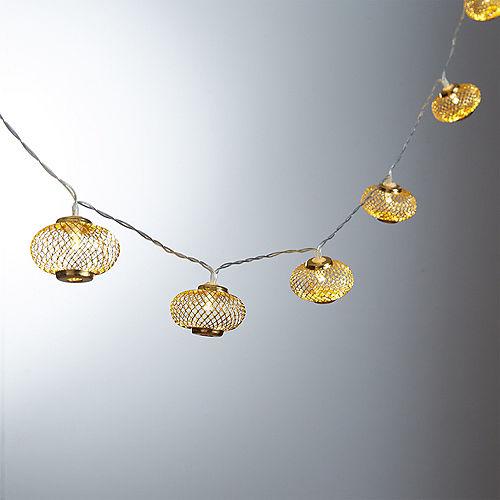 Gold Mesh Lantern LED String Lights Image #1
