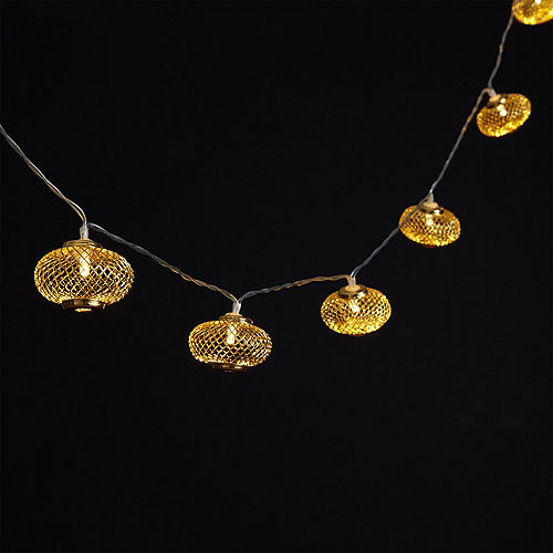 Gold Mesh Lantern LED String Lights Image #2