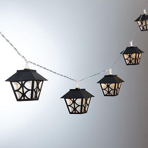 Black Lantern LED String Lights Image #1