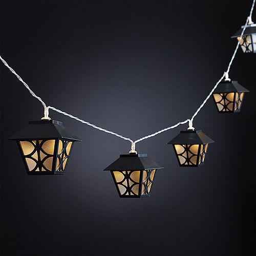 Black Lantern LED String Lights Image #2
