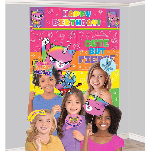 Ultimate Rainbow Butterfly Unicorn Kitty Party Kit for 24 Guests Image #17