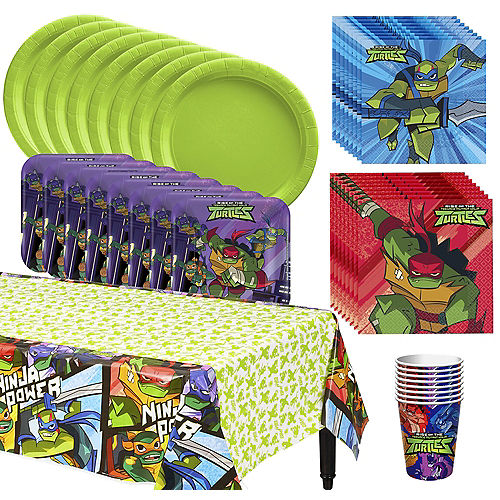 TMNT Complete Tableware Kit for 8 Guests Image #1
