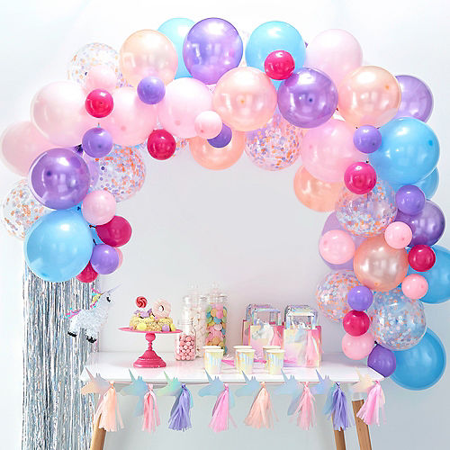 Air-Filled Ginger Ray Pastel Balloon Arch Kit 71pc Image #1