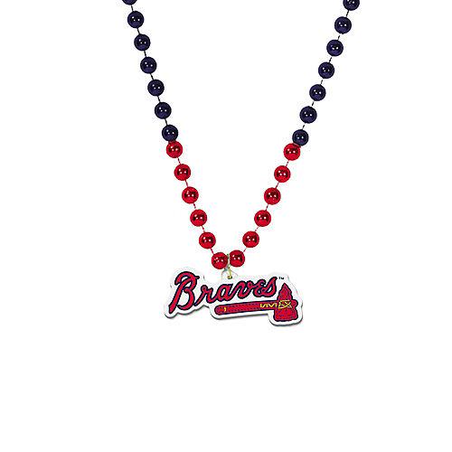 Atlanta Braves Pendant Bead Necklace Image #1