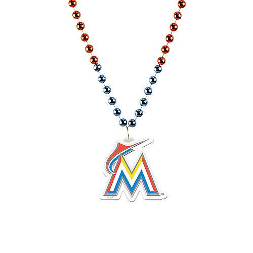 Miami Marlins Pendant Bead Necklace Image #1