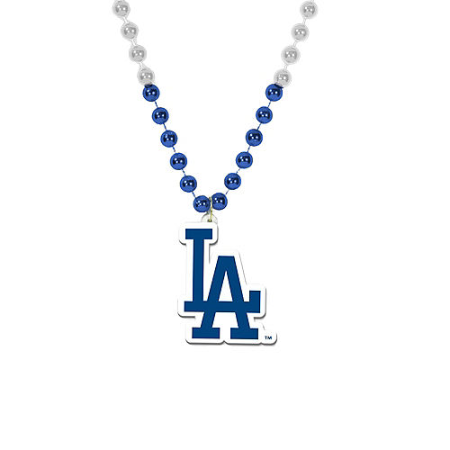 Los Angeles Dodgers Pendant Bead Necklace Image #1