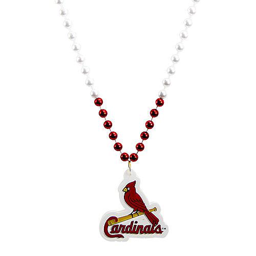 St. Louis Cardinals Pendant Bead Necklace Image #1