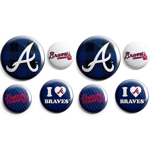 Atlanta Braves Buttons 8ct Image #1