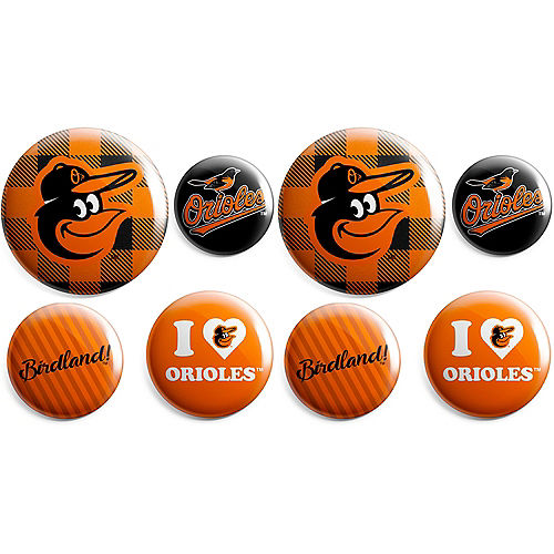 Baltimore Orioles Buttons 8ct Image #1