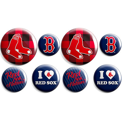 Boston Red Sox Buttons 8ct Image #1