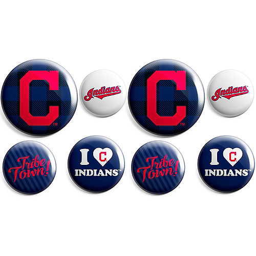 Cleveland Indians Buttons 8ct Image #1