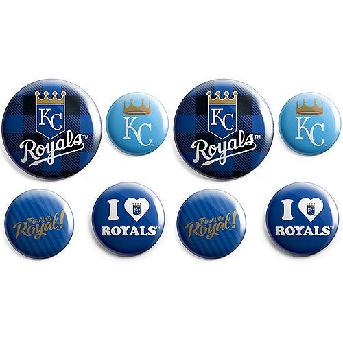 Kansas City Royals Buttons 8ct Image #1