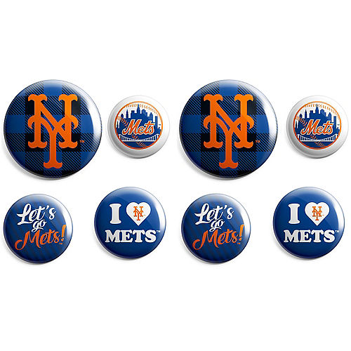 New York Mets Buttons 8ct Image #1