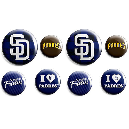 San Diego Padres Buttons 8ct Image #1
