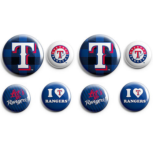 Texas Rangers Buttons 8ct Image #1