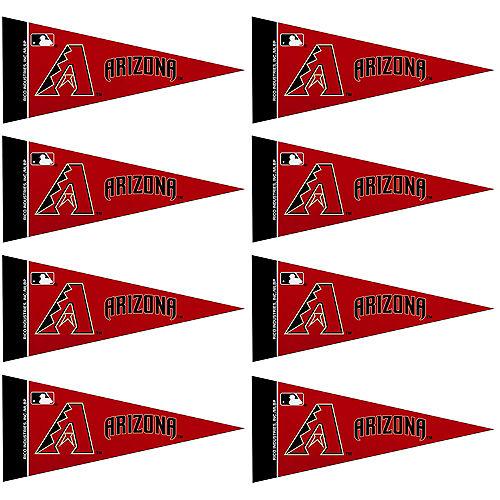 Mini Arizona Diamondbacks Pennant Flags 8ct Image #1
