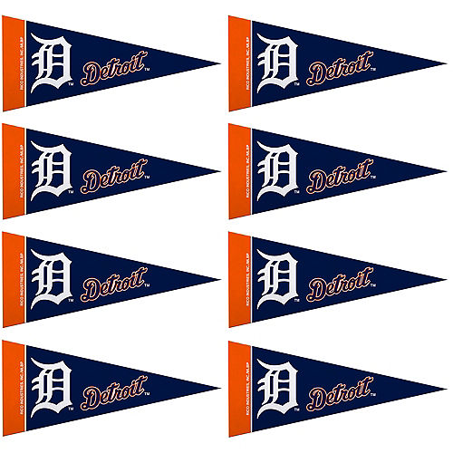 Mini Detroit Tigers Pennant Flags 8ct Image #1