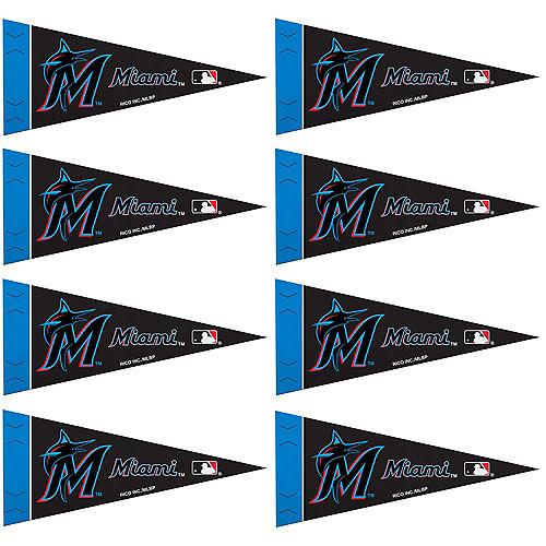 Mini Miami Marlins Pennant Flags 8ct Image #1