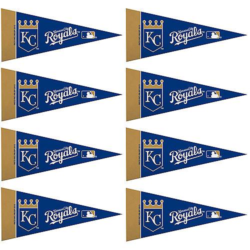 Mini Kansas City Royals Pennant Flags 8ct Image #1